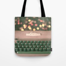 Typewriter with magic bokeh (Vintage and Retro Still Life Photography)  Tote Bag