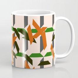 trapezoids grid pattern_salmon Coffee Mug