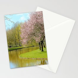 A spring day in the park Stationery Cards