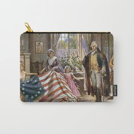 Edward percy moran : the birth of old glory Or Betsy Ross and Washington Carry-All Pouch