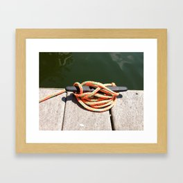 the Nautical Press / Boat Dock Framed Art Print