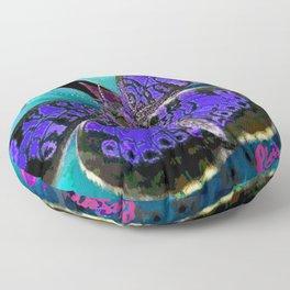 Butterfly Blues Floor Pillow