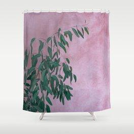 Pink Eucalypt Shower Curtain