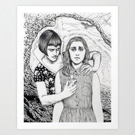 The Girl Who Had No Voice Art Print