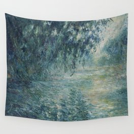 Morning on the Seine, Claude Monet Wall Tapestry