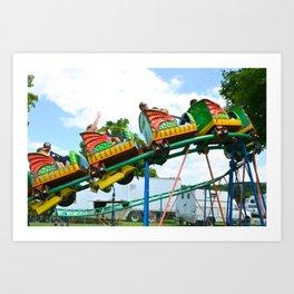 Chinese Dragon ride 2 Art Print