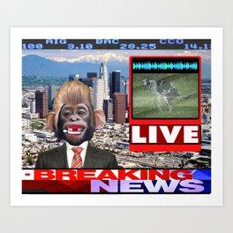 LIVE BREAKING NEWS Art Print