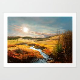 A Gleam To Watch Over the Fields Art Print