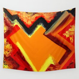 """""""Storm"""" Original oil finger painting by Monika Toth Wall Tapestry"""