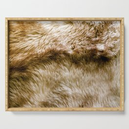 Fluffy Fur Serving Tray