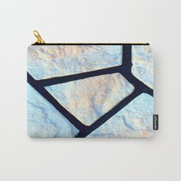 stone black line uneven ocean blue brown pattern Carry-All Pouch