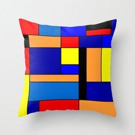 Mondrian #2 Throw Pillow