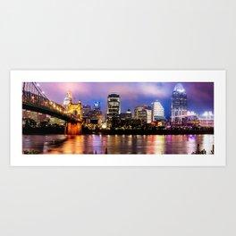 Cincinnati Skyline Panorama Art Print