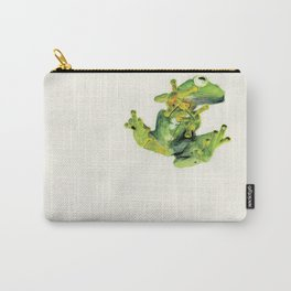 Frog on Glass Carry-All Pouch