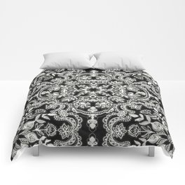 Black & White Folk Art Pattern Comforters