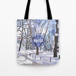 The veins of Central Park Tote Bag
