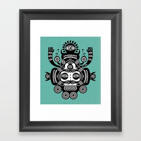 Râ Tatoo Framed Art Print