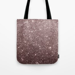 Modern mauve burgundy rose gold glitter Tote Bag