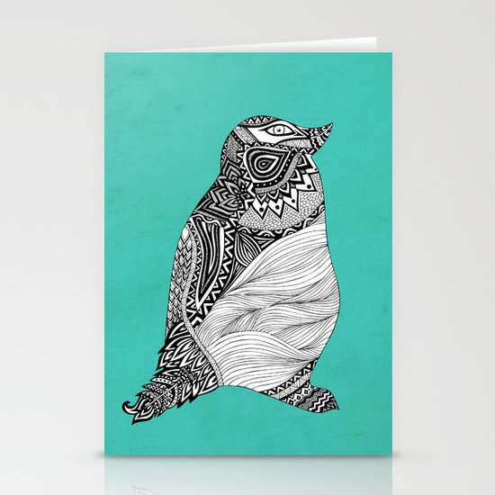 Tribal Penguin Stationery Cards