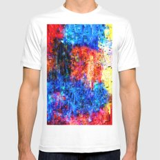 Color mix White MEDIUM Mens Fitted Tee