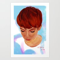 ginger Art Prints featuring Ginger by Adelys