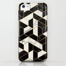 Black and White Marble Hexagonal Pattern Slim Case iPhone 5c