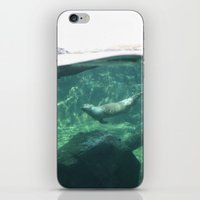 otters iPhone & iPod Skins featuring Swimming Otters by Pokemon-Chick-1