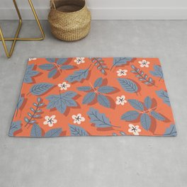 Autumn Leaves with Shadows Rug