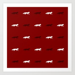 Red Foxes! Art Print