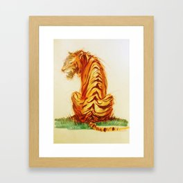 Tiger Turn Framed Art Print