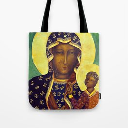 Virgin Mary Our Lady of Czestochowa Poland Black Madonna and Child Religion Christmas Gift Tote Bag