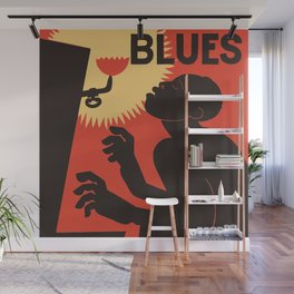 Retro The Weary Blues (music) Wall Mural