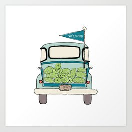 Watermelon Truck Art Print