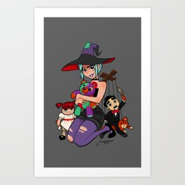 inktober 2019 witchcraft Art Print