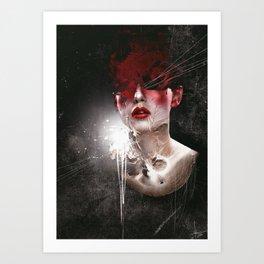 Iodine sky Art Print
