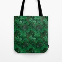 malachite Tote Bags featuring malachite by ravynka