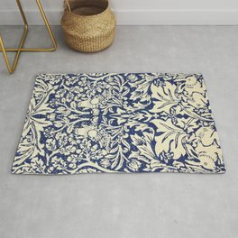 Brother Rabbit - Sand on Navy, William Morris Rug