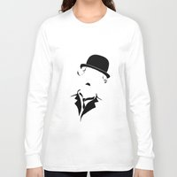 charlie Long Sleeve T-shirts featuring Charlie by Amanda Pays