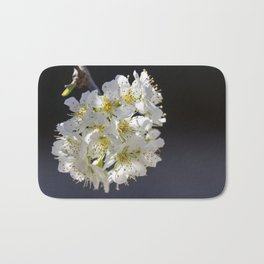 Plum Tree Blossoms Bath Mat