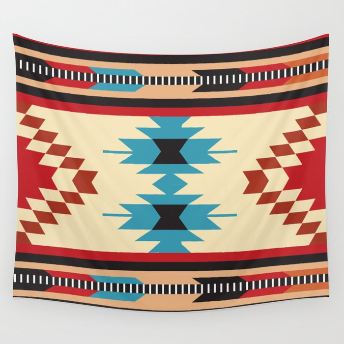 American Native Pattern No. 37 Wall Tapestry