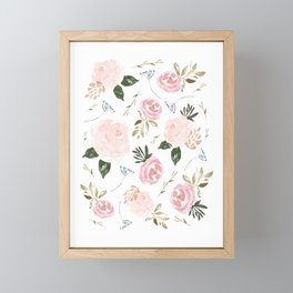 Floral Blossom - Muted Pink Framed Mini Art Print