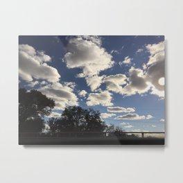 Clouded Metal Print