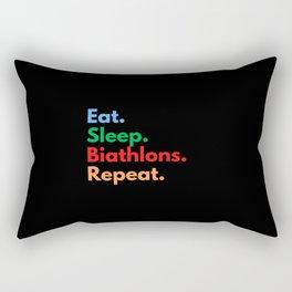 Eat. Sleep. Biathlons. Repeat. Rectangular Pillow