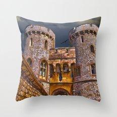 Norman Gate, Windsor Castle , England Throw Pillow