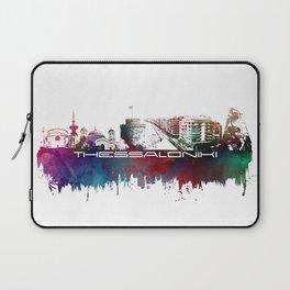 Thessaloniki skyline city blue Laptop Sleeve