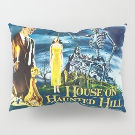 House on Haunted Hill, vintage horror movie poster Pillow Sham