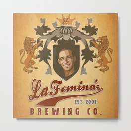 La Femina Brewing Co. Metal Print