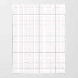 Peach Grid Poster
