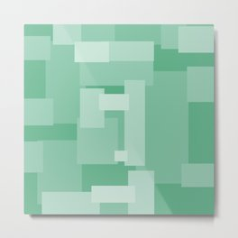 Matted Green - Color Therapy Metal Print