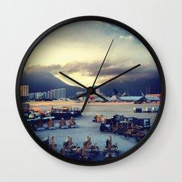 Dawn at Chek Lap Kok Wall Clock